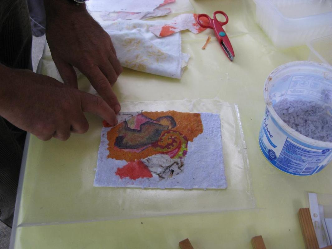 Peindre avec le papier